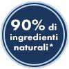 90% INGREDIENTI NATURALI